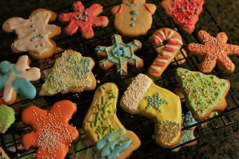 Nossos cookies de Natal, com receita pra você fazer também