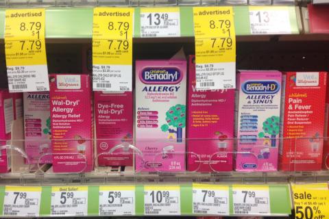 Remédios para alergia, Benadryl e genérico