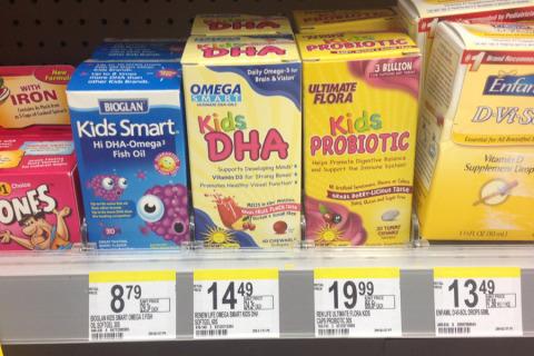 Outros probióticos, junto das vitaminas