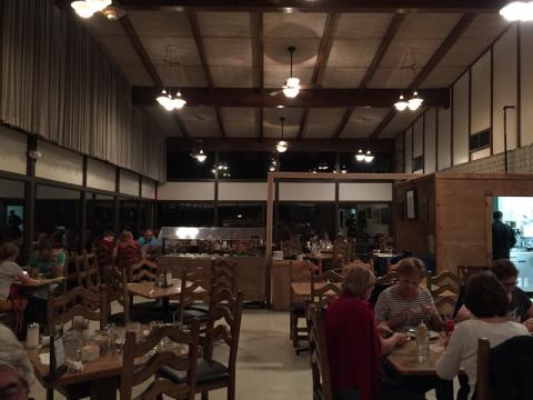 Restaurante do Chisos Lodge: único do parque
