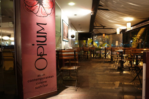 Restaurante asiático Opium, na Farme de Amoedo, em Ipanema