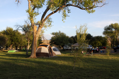 Rio Grande Village Campground, pra barracas e motorhomes