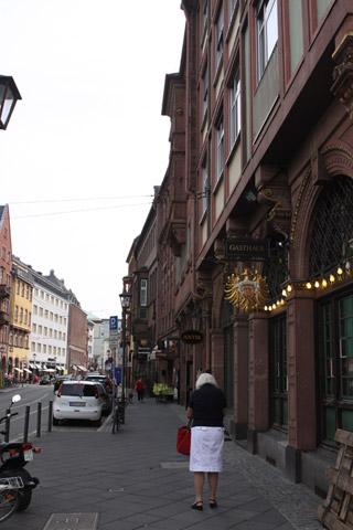 Ruazinha bonitinha em Frankfurt