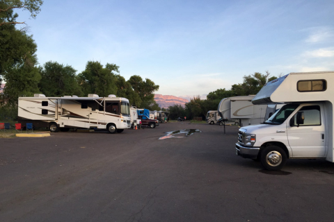 O RV Campground de Rio Grande Village no Big Bend National Park