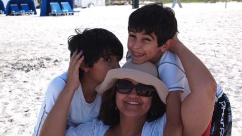 morar em Orlando é assim: Samya e os filhos curtindo o dia das mães em Clearwater, FL