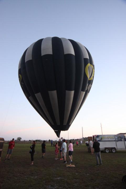 Segundo balão ficando na vertical