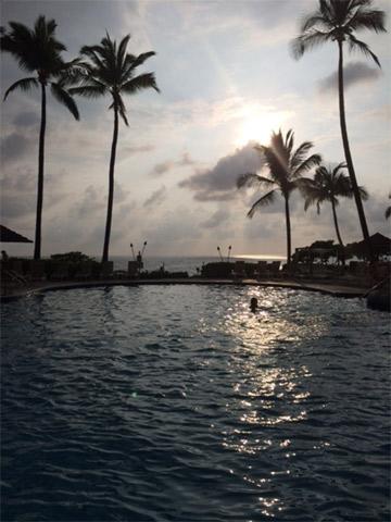 Dia de aproveitar a piscina do Sheraton Kona