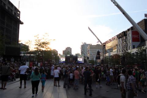 Um dos palcos do Festival de Jazz de Montréal