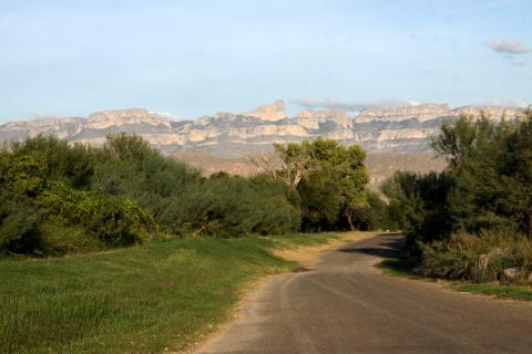 Mais uma vista da Sierra del Carmen no final do dia, na Rio Grande Village