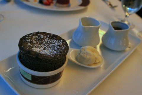 O famoso Suflê de Chocolate do Palo, espetacular