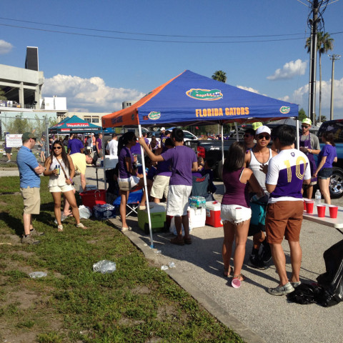 Tailgating antes do jogo do Orlando City