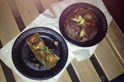A tartelette de escargots e o boeuf bourguignon, ambos ótimos