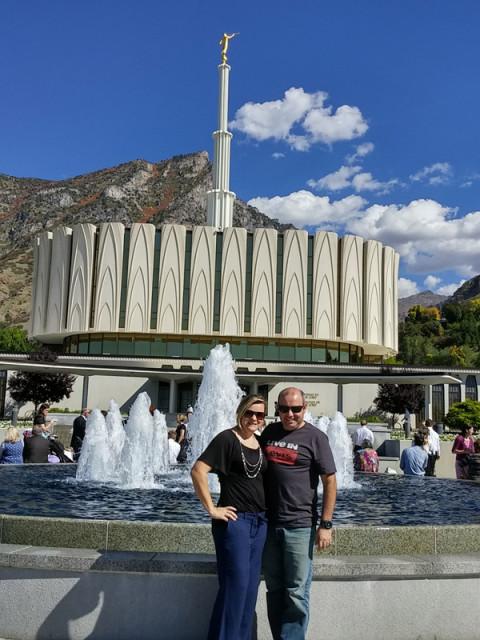 Visitando o templo em Provo