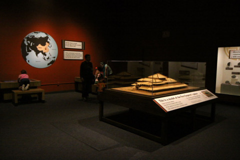 Uma réplica do palácio do imperador que ordenou a construção do Exército