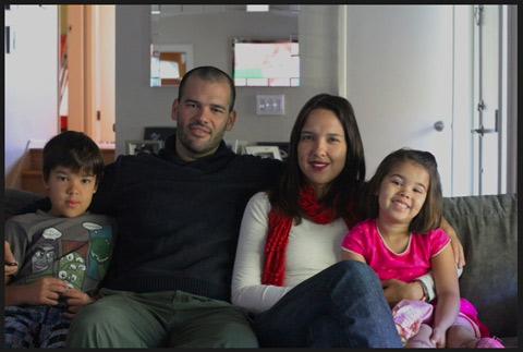 Thais e a família em San Francisco, Califórnia