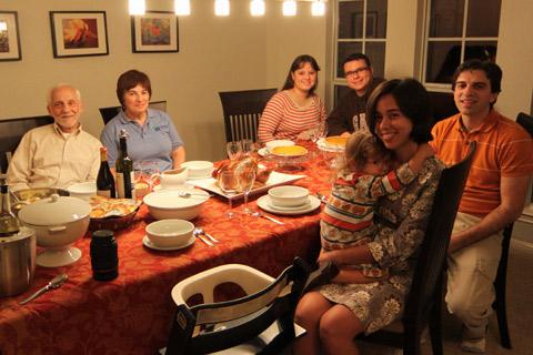 No Thanksgiving de 2009 meus sogros vieram e chamamos nossos amigos Tati e Daniel pra conhecerem essa tradição