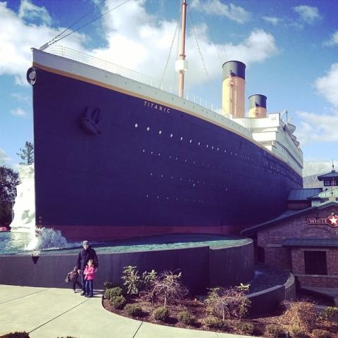 O museu Titanic em Pigeon Forge, Tennessee
