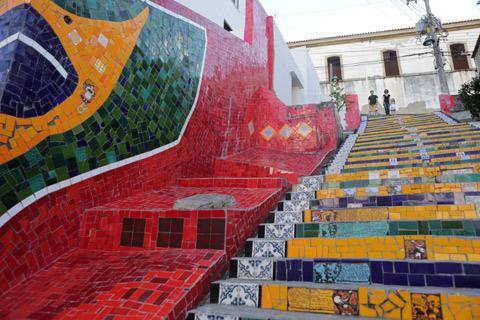 """Nós no topo da Escadaria, foto Gustavo """"Camarão"""" Bordallo"""