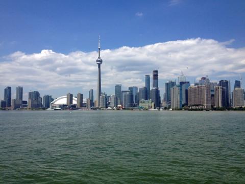 CN Tower e o skyline de Toronto