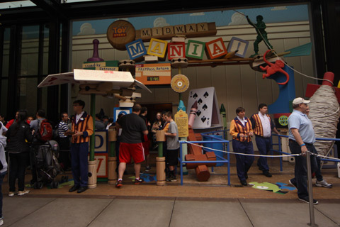 Entrada do Toy Story Midway Mania