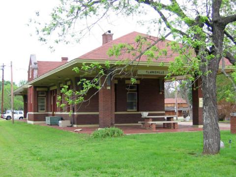 A estação de trem de Clarksville