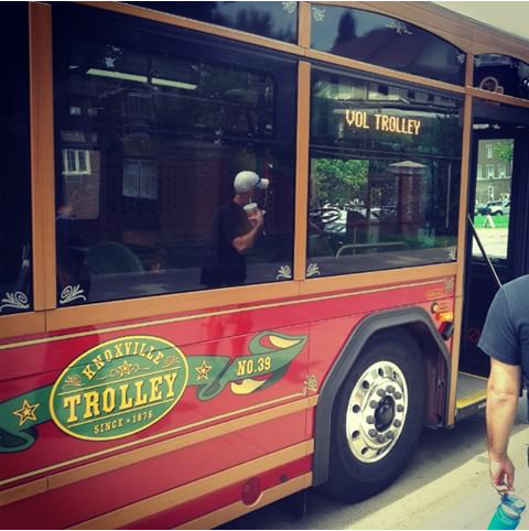 Trolley em Knoxville