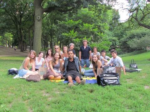 Picnic no Central Park organizado pela professora