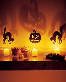 Velas e silhuetas de Halloween