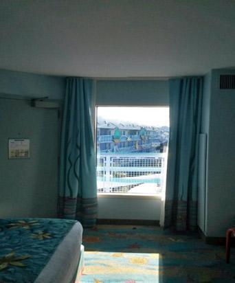 Vista da janela do quarto da Pequena Sereia