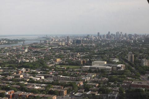 A vista do alto da Torre, o centro da cidade ao longe