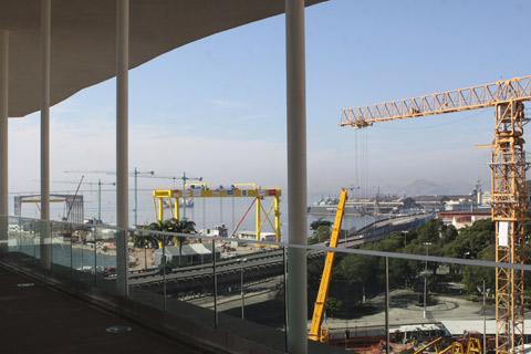 Vista do terraço do Museu de Arte do Rio - MAR
