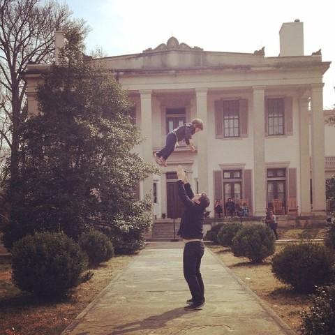 Eric voando na Belle Meade plantation, em Nashville