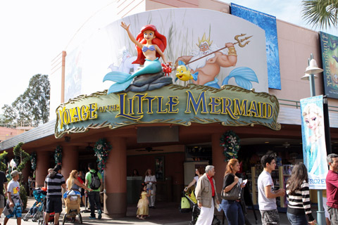 Entrada para o show Voyage of the Little Mermaid