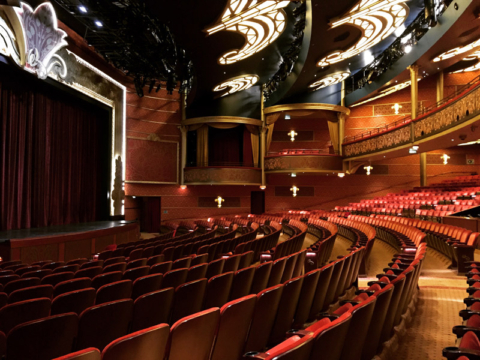 O lindíssimo Walt Disney Theatre no Disney Fantasy