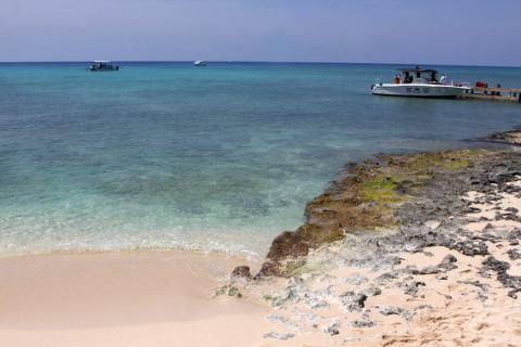 O cantinho da praia de West Bay