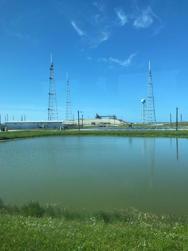 Uma das bases de lançamento da NASA em Cabo Canaveral