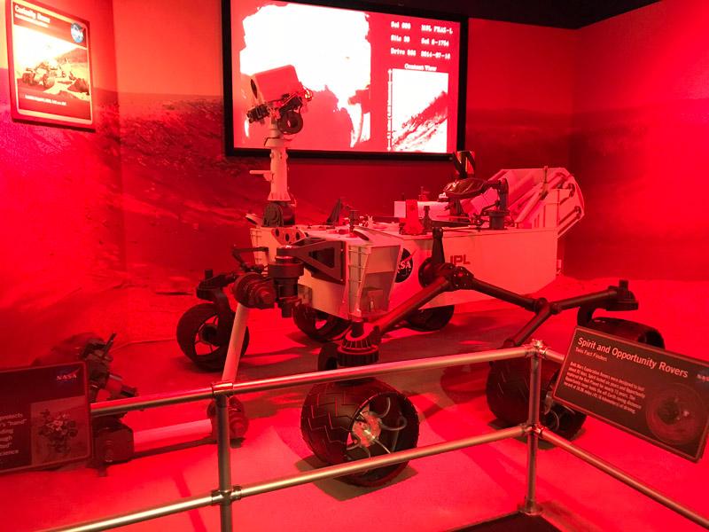 Réplica do Curiosity Rover, enviado pela NASA a Marte
