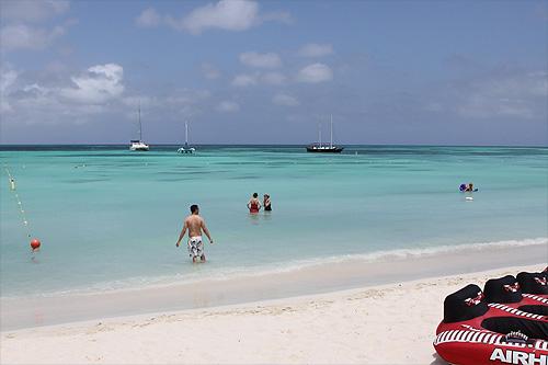 Palm Beach em Aruba, em frente ao nosso hotel