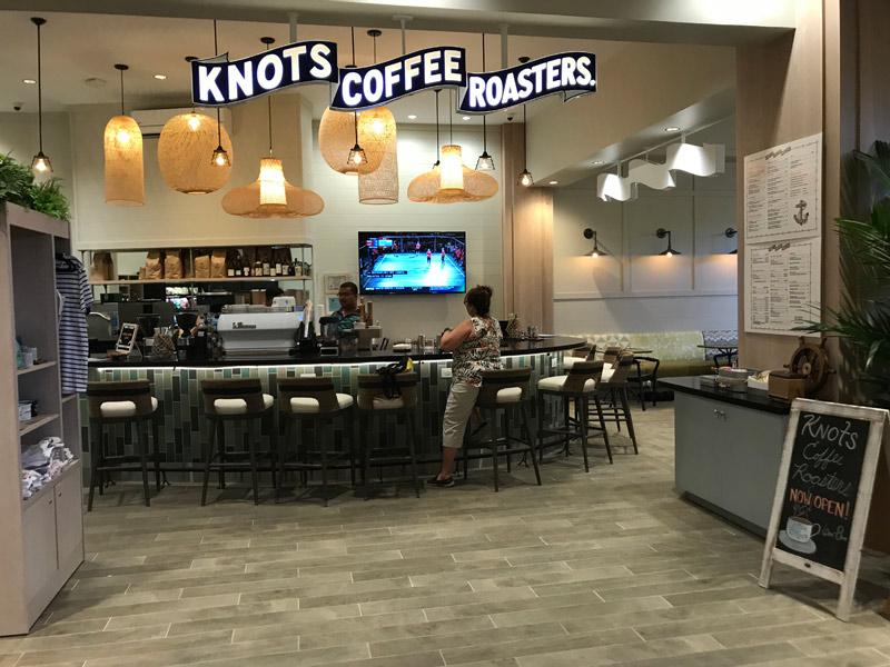 Café no lobby do hotel