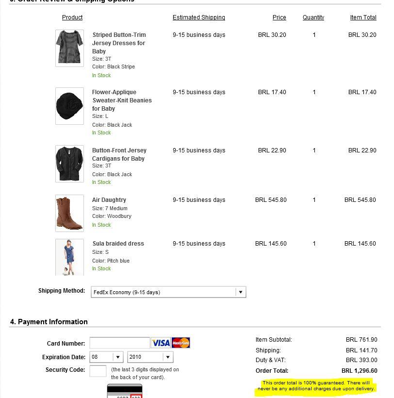 94d3a5e53 O limite é 2.500 dólares por compra. Você pode mudar os preços do site para  Reais e escolher entre duas opções de entrega