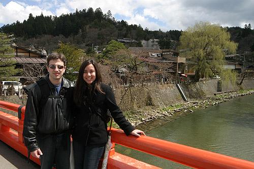 Eu e Gabe em Takayama, na nossa primeira viagem ao Japão
