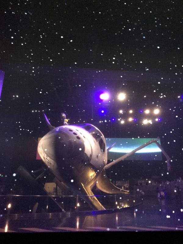 O ônibus espacial Atlantis