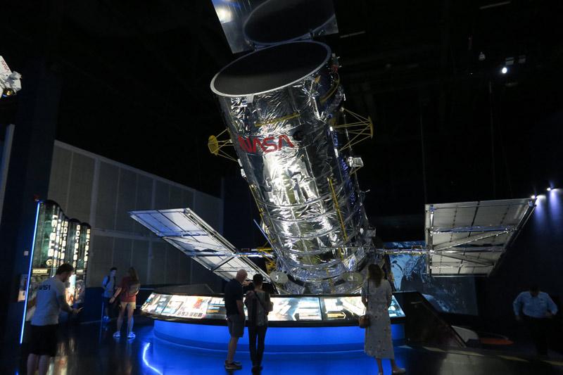 Réplica do telescópio Hubble