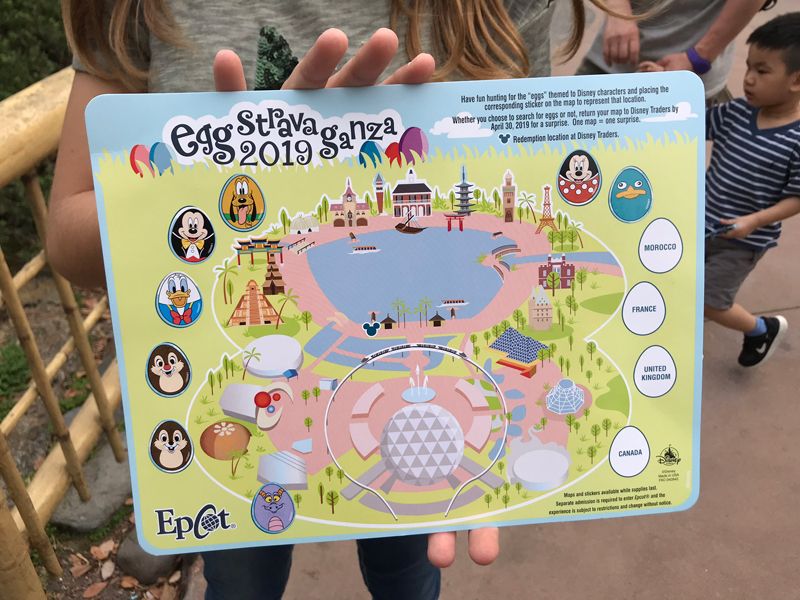 O mapa dos ovos de Páscoa sendo preenchido