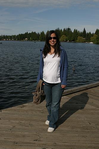 Eu grávida da Julia curtindo os parques de Washington