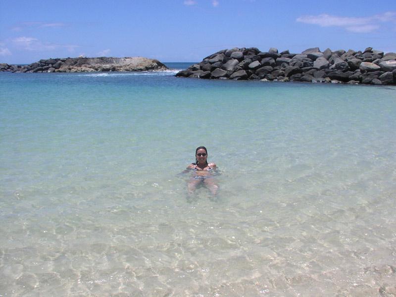 Oahu no verão: Eu na praia em Ko'Olina em agosto