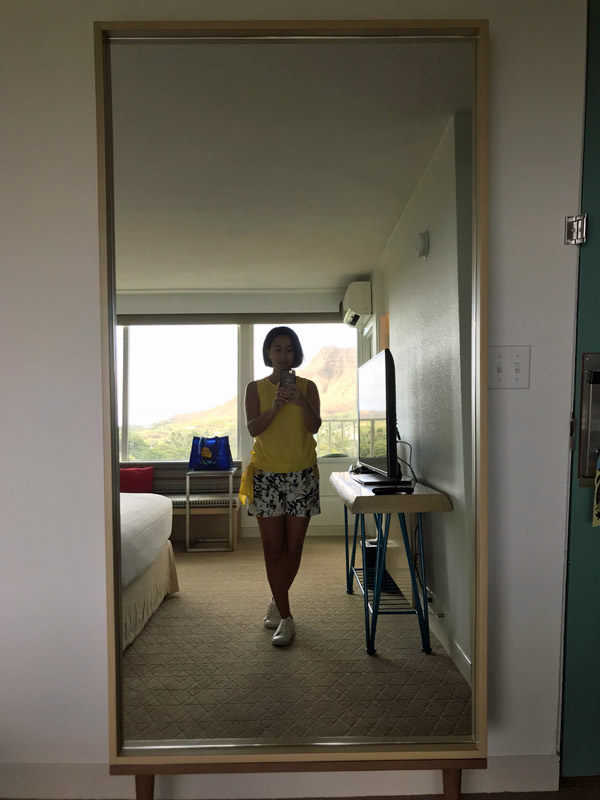 Espelho ótimo no quarto!