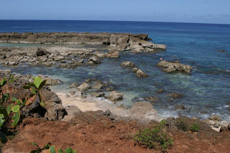 Shark's Cove, ótimo lugar pra fazer snorkel no North Shore