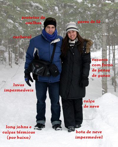 Roupas para a neve  Como se vestir para passear na neve 87683c6e4fa77