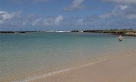 eu na praia em Ko'Olina em agosto